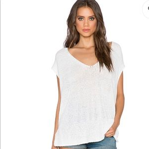 3/ $25 Free People White Easy Tea Sweater Size S